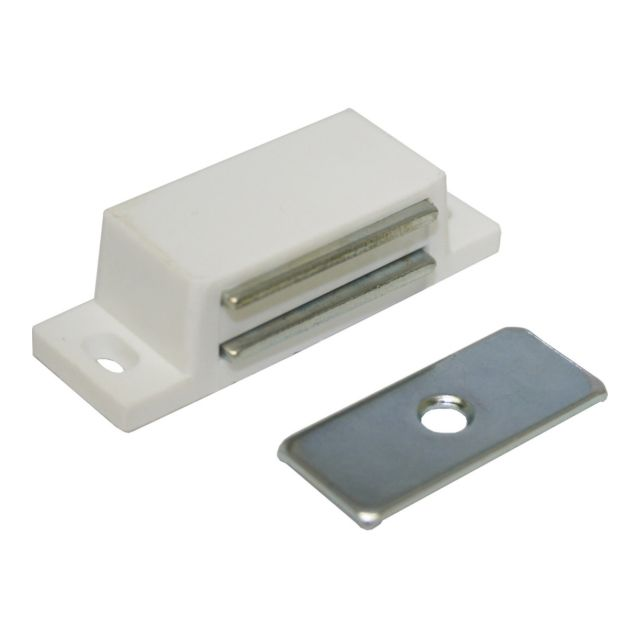 Magnetic Catch Plastic White 50mm