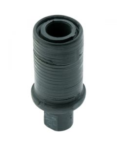 Adjustable Bullet Foot Round Black 31.8mm Tube Diameter