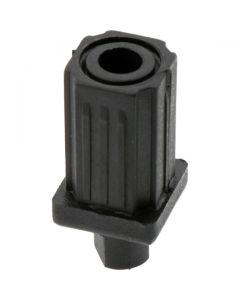 Adjustable Bullet Foot Square Black 25.4mm Tube Diameter