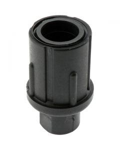 Adjustable Bullet Foot Round Black 50.8mm Tube Diameter
