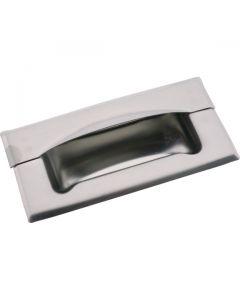Flush Drawer Pull Full Grip Stainless Steel 120mm