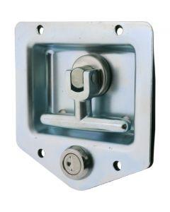 Drop T Latch Locking Zinc 8mm Shaft