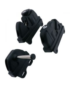 Slam Gate Latch Ext and Int Keylock Black 146mm
