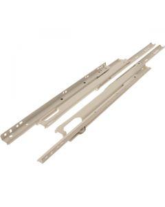 Full Extension Drawer Slides Pair White 450mm 50kg Load