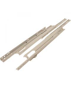 Full Extension Drawer Slides Pair White 550mm 50kg Load