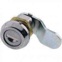 Key Locking Cam Lock Round Face 90deg Rotation 38mm