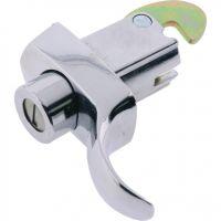 Push Button Lever Handle Lock Chrome 76mm