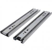 Full Extension Drawer Slides Pair Zinc Plated 254mm 45kg Load