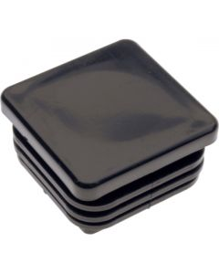 Square Plug Ribbed Black Plastic 31.8mm