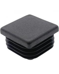 Square Plug Ribbed Black Plastic 34.9mm