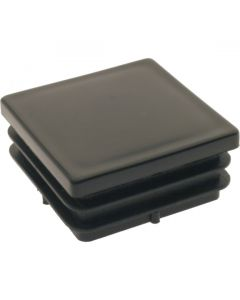 Square Plug Ribbed Black Plastic 50.8mm