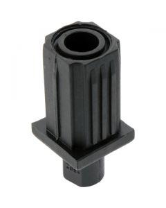 Adjustable Bullet Foot Square Black 31.8mm Tube Diameter