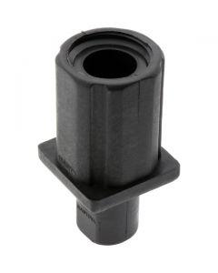 Adjustable Bullet Foot Square Black 38.1mm Tube Diameter