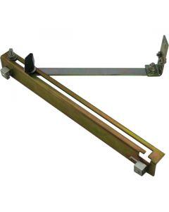 Door Wind Stop Kit With Locking Knob Zinc 475mm