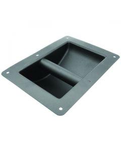Flush Recessed Grab Handle Powdercoated Steel 220mm