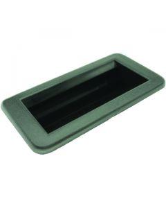 Flush Pull Black Polypropylene 130mm