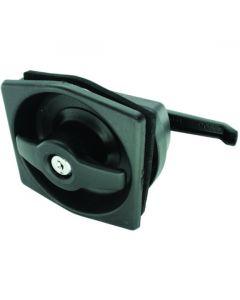 Flush Exterior Lock and Interior Handle Black 103mm