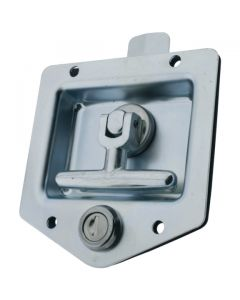 Drop T Centre Latch Only Locking Zinc Plated