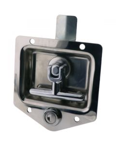 Drop T Centre Latch Only Locking Stainless Steel