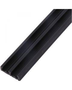 Sliding Door Bottom Track Plastic Black 8mm