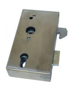 Sliding Door Hook Latch Zinc With Plain Steel Case 173mm