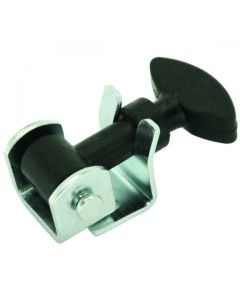 Hold Down Latch Zinc and Black Rubber 56mm