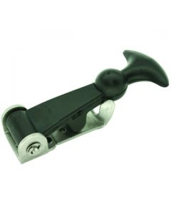 Hold Down Latch Zinc and Black Rubber 125mm