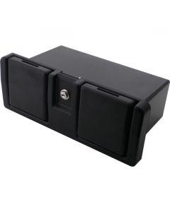 Glove Box Unit Lockable Black 90x290mm